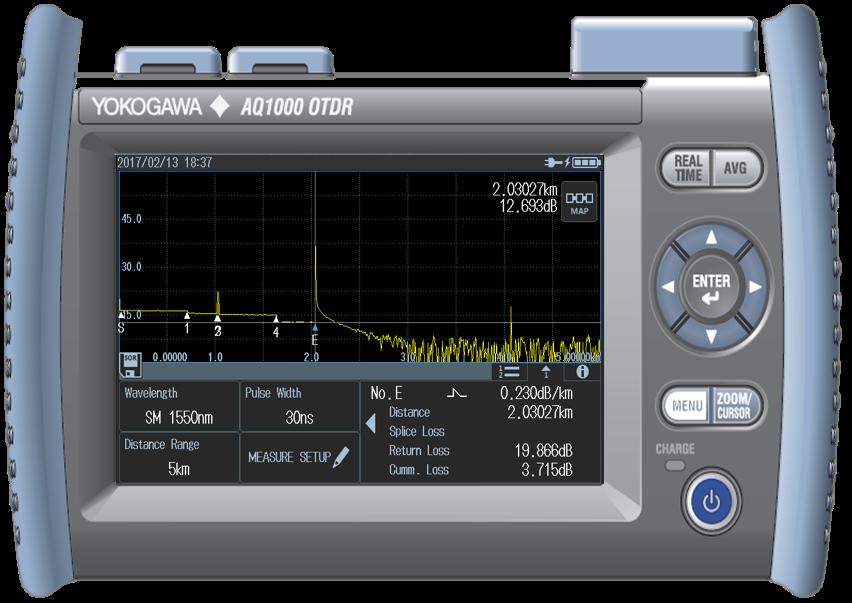 Рефлектометр оптический Yokogawa AQ1000-UFC/VLS (SM, 1310/1550 нм, 32/30 дБ, VLS, адаптер FC)